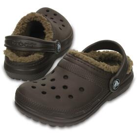 Crocs Classic Lined Clogs Kids Espresso/Khaki